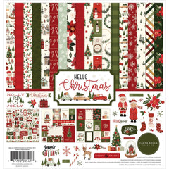 "Hello Christmas - Carta Bella - Collection Kit 12""X12"""