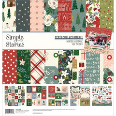 "Winter Cottage - Simple Stories - Collection Kit 12""X12"""
