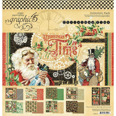 "Christmas Time - Graphic 45 - Collection Pack 12""X12"""