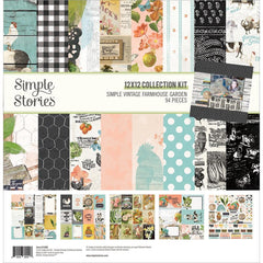 "Simple Vintage Farmhouse Garden - Simple Stories - Collection Kit 12""X12"""