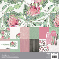 "Flowering Natives - Kaisercraft - Paper Pack 12""X12"" 12/Pkg"
