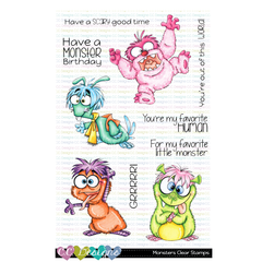 MONSTERS CLEAR STAMP SET - C.C. DESIGNS