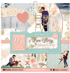 "Love Story - Stamperia -  (12""X12"") Maxi Paper Pack"