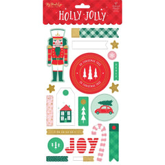 "Holly Jolly - My Mind's Eye - Chipboard Elements 6""X12"" 2/Pkg"