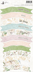 "Truly Yours - P13 -  Cardstock Stickers 4""X9"" - Party Sticker Sheet (14)"