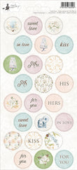 "Truly Yours - P13 -  Cardstock Stickers 4""X9"" - Party Sticker Sheet (15)"