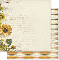 "Splendor - Authentique - Double-Sided Cardstock 12""X12"" - #1 Sunflower"