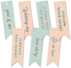 Truly Yours - P13 -  Double-Sided Cardstock Decorative Tags 7/Pkg (22)