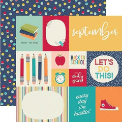 "Best Year Ever - Simple Stories - Double-Sided Cardstock 12""X12"" - September 2""X2"" Elements"