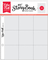 "My Story Book - Echo Park - Album Pocket Pages 6""X8"" 10/Pkg - 2x2 Pockets"