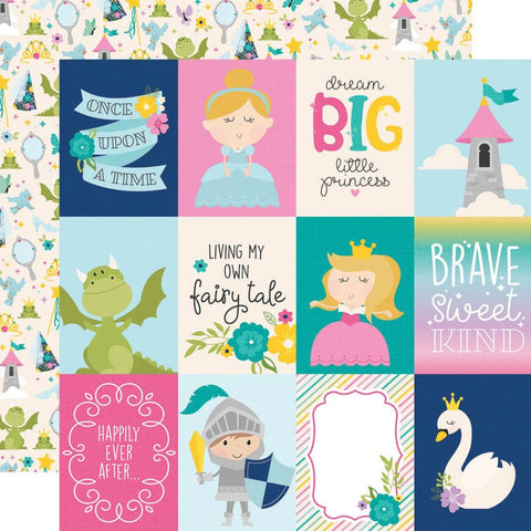 "Little Princess - Simple Stories - Double-Sided Cardstock 12""X12"" - 3""X4"" Elements"