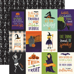 "Hocus Pocus Double-Sided Cardstock 12""X12"" - 3""X4"" Journaling Cards"