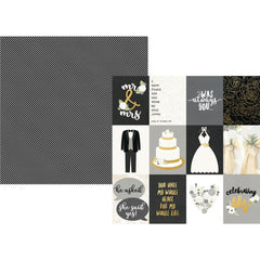 "Always & Forever Specialty Cardstock 12""X12"" - 3""X4"" Elements"