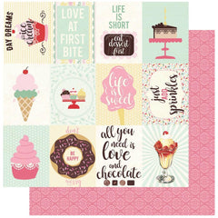 "Confection - Authentique - Double-Sided Cardstock 12""X12"" - #4 3""X4"" Vintage Cut-Apart Images"