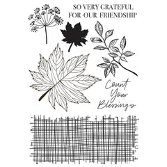 "Fallen Leaves - Kaisercraft - Clear Stamp 6""X4"""