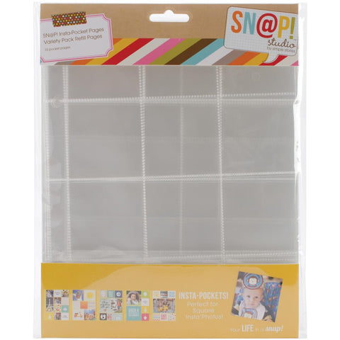"Sn@p! Insta Pocket Pages For 6""X8"" Binders 10/Pkg - Variety Pack (4074)"