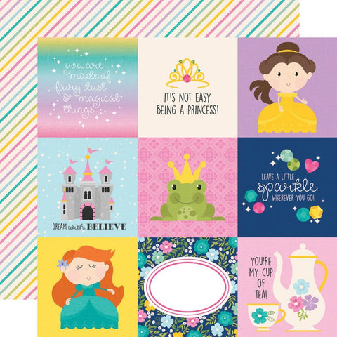 "Little Princess - Simple Stories - Double-Sided Cardstock 12""X12"" - 4""X4"" Elements"