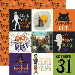 "Hocus Pocus Double-Sided Cardstock 12""X12"" - 4""X4"" Journaling Cards"