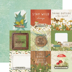 "Simple Vintage Great Escape - Simple Stories - Double-Sided Cardstock 12""X12"" - 4""X4"" Elements"