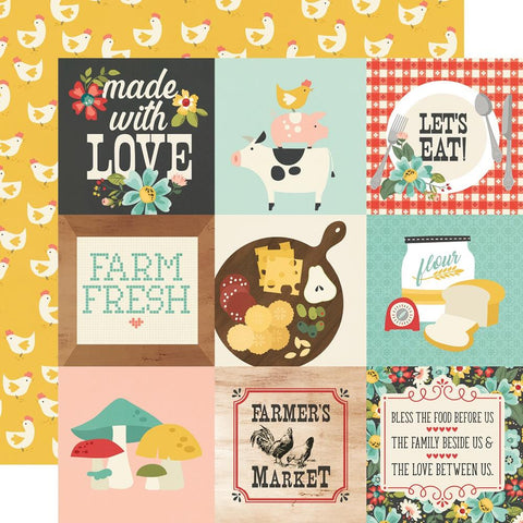 "Apron Strings - Simple Stories - Double-Sided Cardstock 12""X12"" - 4""X4"" Elements"