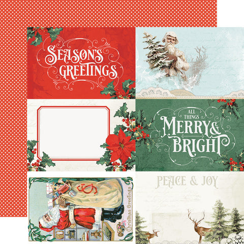 "Country Christmas - Simple Stories - 12""x12"" Double-sided Cardstock - 4""x6"" Elements"