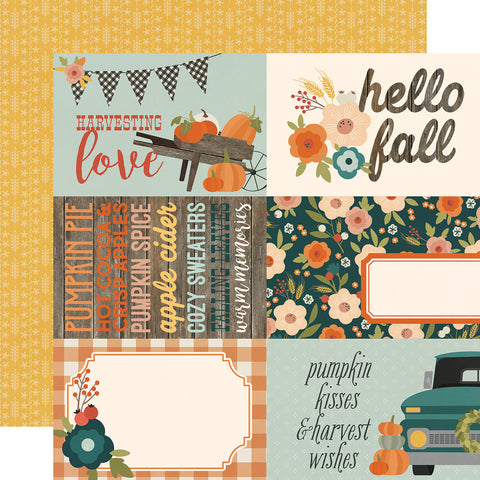 "Fall Farmhouse - Simple Stories - Double-sided Cardstock 12""x12"" - 4""x6"" Elements"