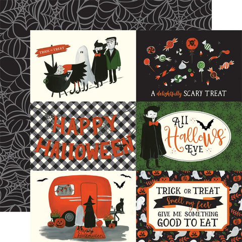 "Trick Or Treat - Echo Park - Double-Sided Cardstock 12""X12"" -  4""X6"" Journaling Cards"