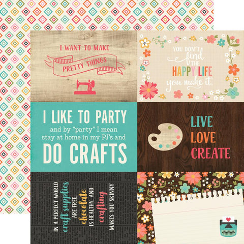 "I'd Rather Be Crafting Double-Sided Cardstock 12""X12"" - 4""X6"" Journaling Cards"