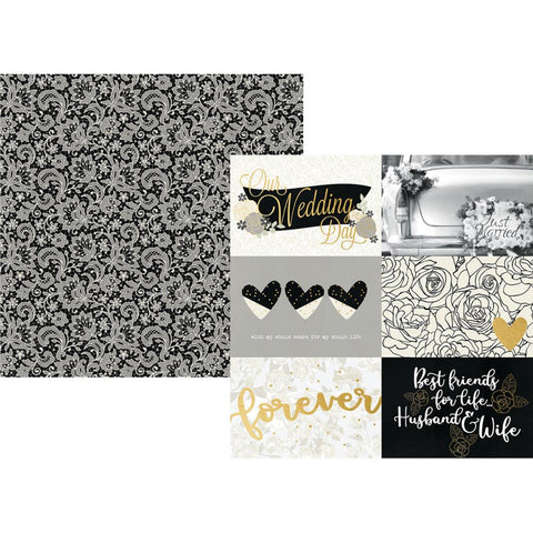 "Always & Forever Specialty Cardstock 12""X12"" - 4""X6"" Horizontal Elements"
