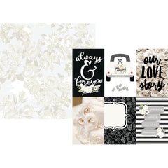 "Always & Forever Double-Sided Cardstock 12""X12"" - 4""X6"" Vertical Elements"
