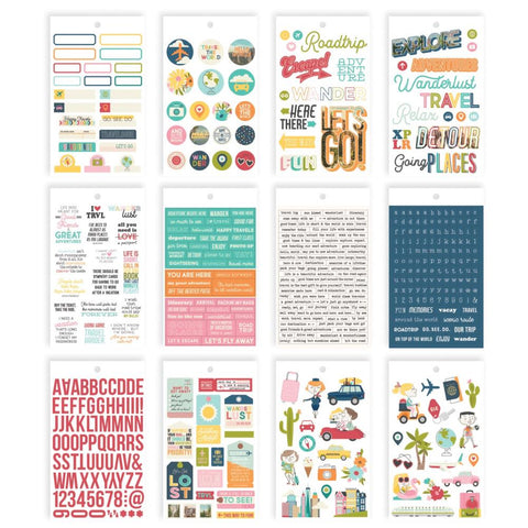 "Going Places - Simple Stories - Stickers 4""X6"" 12/Pkg"