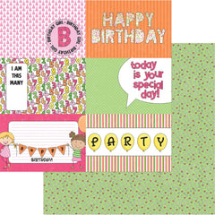 "Birthday Girl Wishes Double-Sided Cardstock 12""X12"" - Hip Hip Hooray"