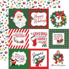 "Dear Santa - Carta Bella - Double-Sided Cardstock 12""X12"" - 4""X4"" Journaling Cards"