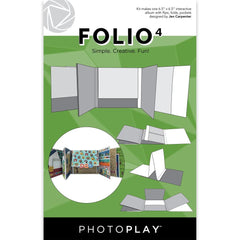 "PhotoPlay Folio 6.5""X6.5"" - #4 White"