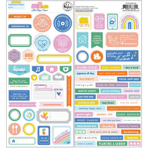 Let's Stay Home - Pinkfresh Studios - Cardstock Stickers (520)