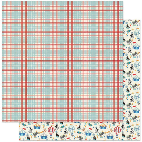 "Hooray - Authentique - Double-Sided Cardstock 12""X12"" - #5 Plaid"