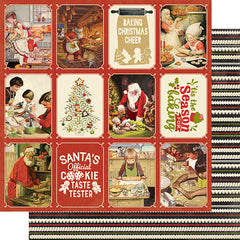 "Christmas Greetings - Authentique - Double-Sided Cardstock 12""X12"" - #5 Cookies & Baking 3""X4"" Cut-Aparts"