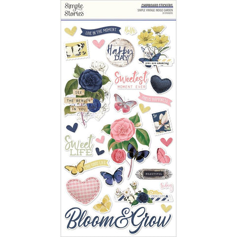 "Crafty Girl Chipboard Stickers 6""X12"""