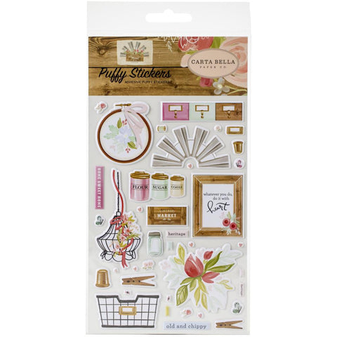 Farmhouse Market - Carta Bella - Puffy Stickers