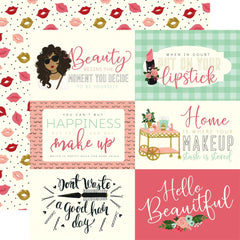 "Salon - Echo Park - Double-Sided Cardstock 12""X12"" - 6""X4"" Journaling Cards"