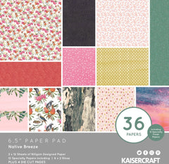 "Native Breeze - Kaisercraft -  6.5""x6.5"" Paper Pad"