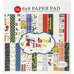 "School Days - Carta Bella - Double-Sided Paper Pad 6""X6"" 24/Pkg"