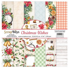 "Christmas Wishes - ScrapBoys - 6""X6"" Patterned Paper Pad"