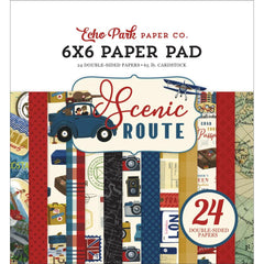 "Scenic Route - Echo Park - Double-Sided Paper Pad 6""X6"" 24/Pkg"