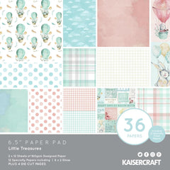 "Little Treasures - Kaisercraft - Paper Pad 6.5""X6.5"" 40/Pkg"