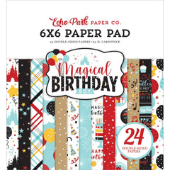 "Magical Birthday BOY - Echo Park - Double-Sided Paper Pad 6""X6"" 24/Pkg"
