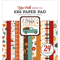 "Happy Fall  - Echo Park - Double-Sided Paper Pad 6""X6"" 24/Pkg"