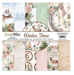 "Winter Time - ScrapBoys - 6""X6"" Patterned Paper Pad"