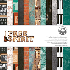 "Free Spirit - P13 - Double-Sided Paper Pad 6""X6"" 24/Pkg"