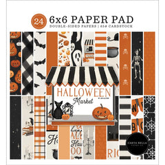 "Halloween Market - Carta Bella - Double-Sided Paper Pad 6""X6"" 24/Pkg"